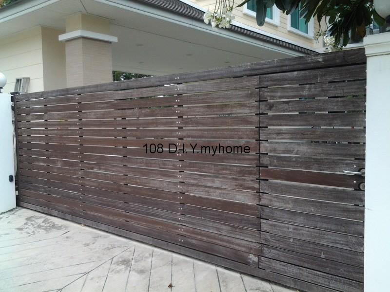 ประตูรั้วไม้,ประตูรั้ว,ตกแต่งบ้าน